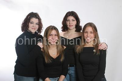 Amber Musser + Sister & Cousins - November 27, 2004