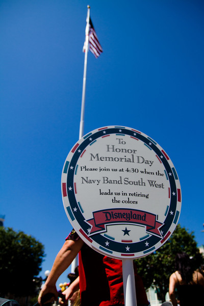 Memorial Day Flag Retiring sign