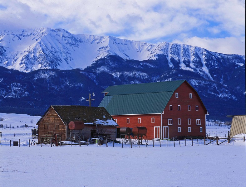Barn in snow w Wallowas sf.jpg