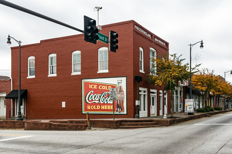 GA, Douglasville - Coca-Cola Wall Sign