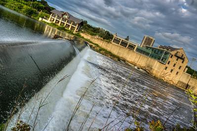 Grand River through Cambridge Ontario