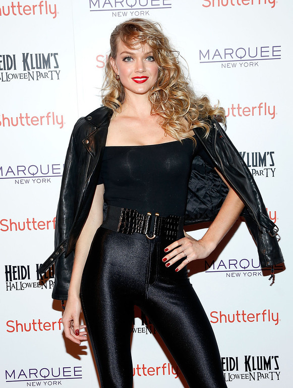 . Model Lindsay Ellingson attends Shutterfly Presents Heidi Klum\'s 14th Annual Halloween Party sponsored by SVEDKA Vodka and smartwater at Marquee on October 31, 2013 in New York City.  (Photo by Cindy Ord/Getty Images for Heidi Klum)