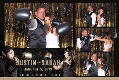 Justin & Sarah's Wedding (LED Dazzle Photo Booth)