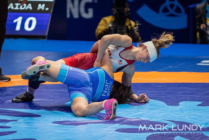 Quarterfinal: Mayu Mukaida (Japan) over Sarah Ann Hildebrandt (United States)  •  TF 12-1 - 2019 World Championships