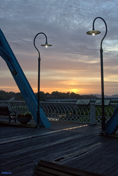 Walnut Street Bridge at sunrise