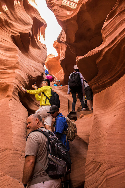 Playing in the Sand at Antelope Canyons (Arizona) 2