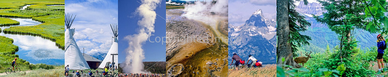 "Glacier, Yellowstone, & Tetons Biking...  *(More cycling photos in ""Tetons & Yellowstone"" below)"