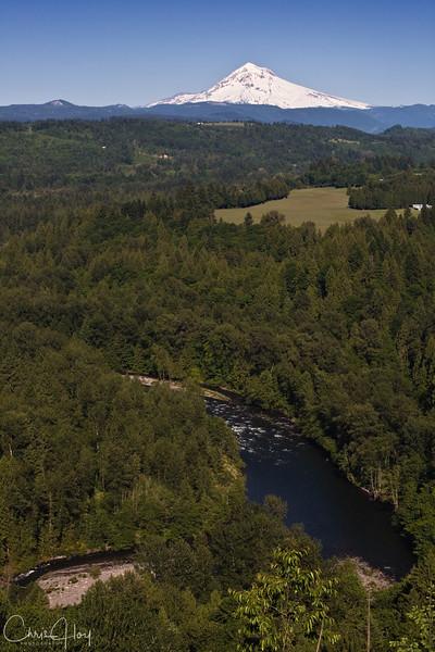 Mt. Hood & Sandy River, Oregon, as seen from Jonsrud Viewpoint
