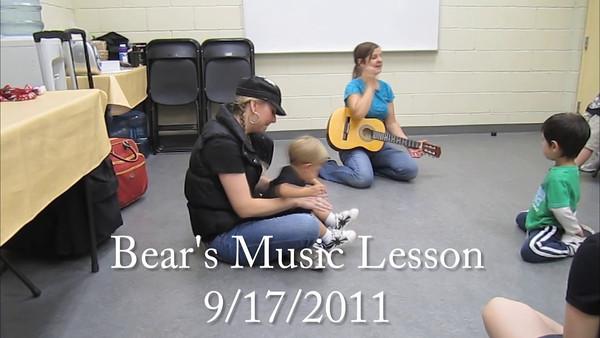 Bear's Music Lesson 9/17/2011