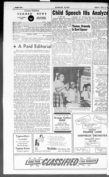 Summer News, Vol. 3, No. 8, July 09, 1948