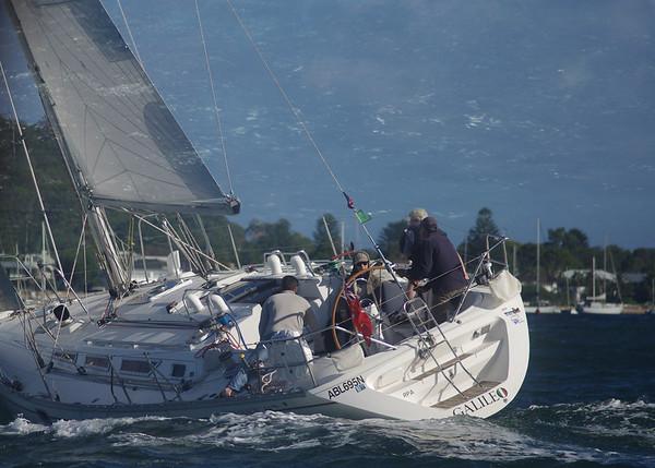 Close up of yacht at sail