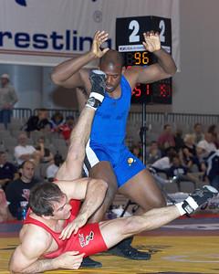 Greco-Roman Championships 96 Kg: Justin Ruiz (New York Athletic Cl) def Rc Johnson (Sunkist Kids) Dec 4-1,1-1