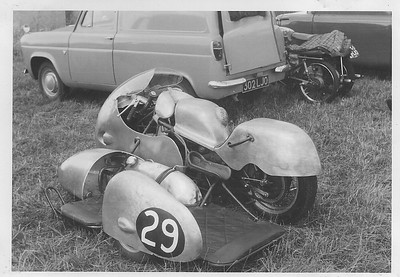 Castle Combe motorbikes racing in 60's