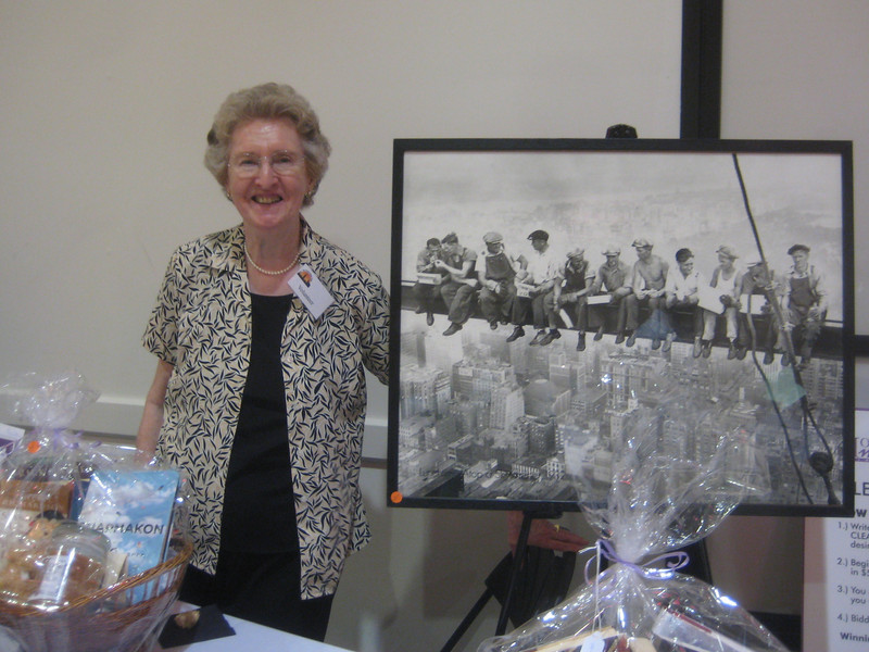 Peg McCarthy, another tireless Friends volunteer at the silent auction tables, May 2, 2010
