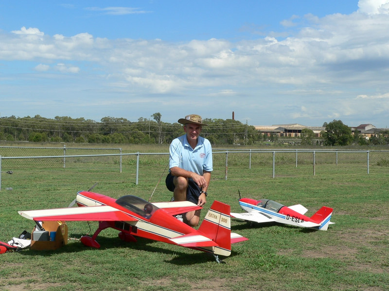 John Kastalan with his Extra 300 and Jodel