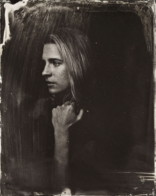 . Britt Marling poses for a tintype (wet collodion) portrait at The Collective and Gibson Lounge Powered by CEG, during the 2014 Sundance Film Festival in Park City, Utah. (Photo by Victoria Will/Invision/AP)