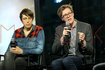 """NEW YORK, NY - NOVEMBER 16:  Directors Peter Middleton and James Spinney visit AOL Build Series to discuss the Emmy-winning short film """"Notes of Blindness"""" at AOL HQ on November 16, 2016 in New York City."""