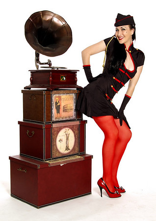 Red and Black Pin-up