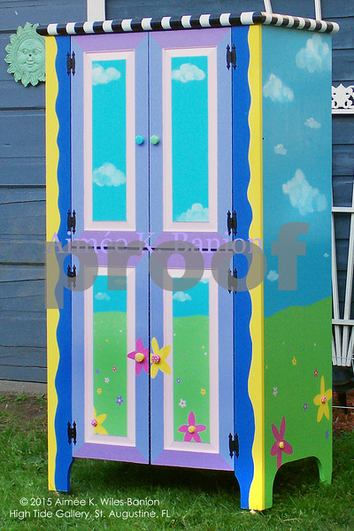 Custom Handpainted Armoire for Client by Aimee K. Wiles-Banion