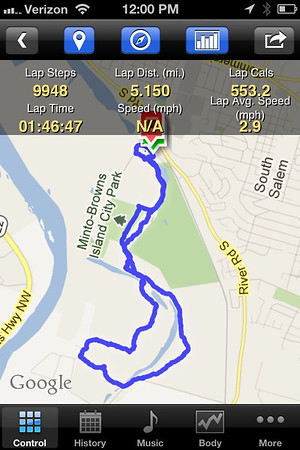 Minto Brown Island walking route