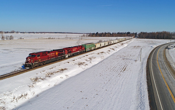 Canadian Pacific/D&H  252, Lacolle, Quebec, February 28