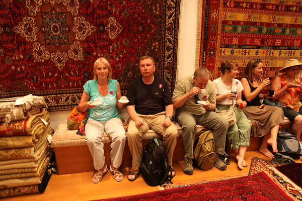 Turkish Carpet Demonstration, Kusadasi, Turkey - May, 2010
