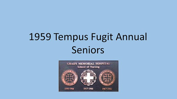 1959 Tempus Fugit Yearbook