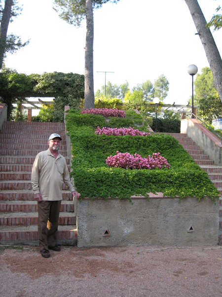 Barcelona & Montserrat - Gardens at restaurant Can Amat