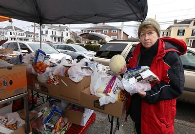 Lowell school food bank distribution 031720