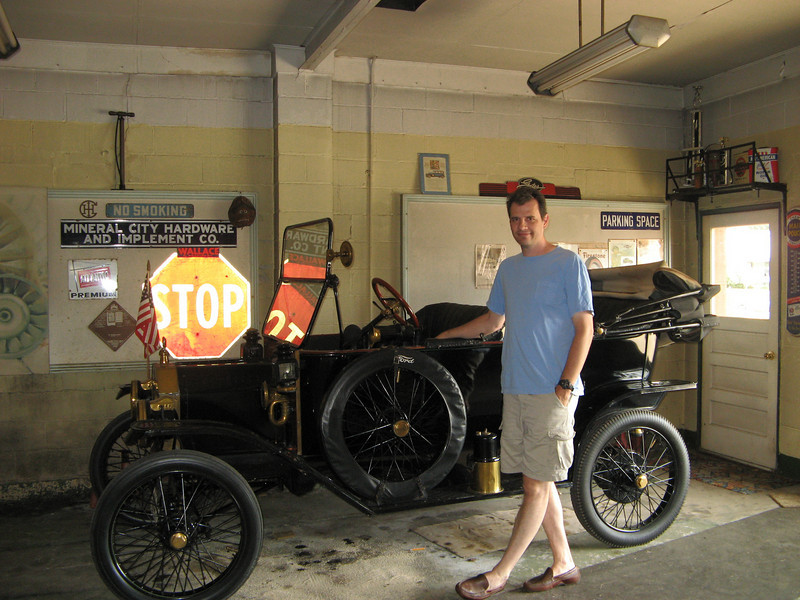 With my Grandfather's 1914 Ford Model T. We drove this from Ohio to Wyoming and back along with my cousin when I was 15 years old.