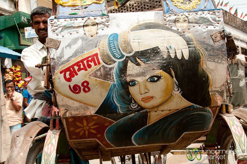 Buxom Bollywood Actress as Rickshaw Art - Rajshahi, Bangladesh