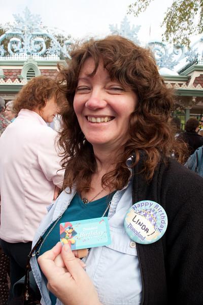Happy birthday at Disneyland, Linda.