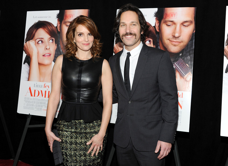 ". Actors Tina Fey and Paul Rudd attend the premiere of ""Admission\"" at AMC Loews Lincoln Square on Tuesday March 5, 2013 in New York. (Photo by Evan Agostini/Invision/AP)"