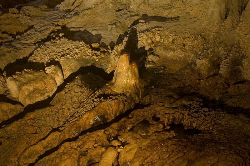 Close-up shot of stalactite formation at clearwater Cave, Mulu National Park - Sarawak, Malaysia