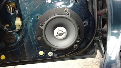 1991 Toyota MR2 91 turbo (t-top 2.0 3sgte engine) Front Door Speaker Installation - USA