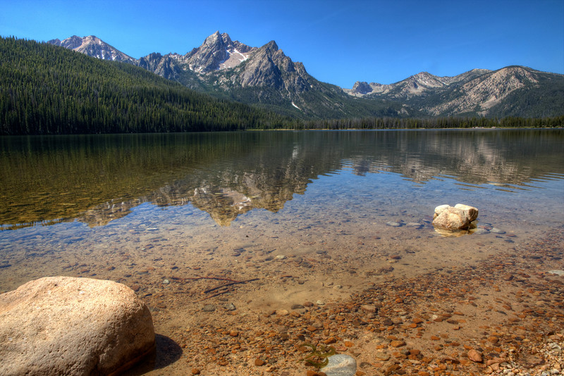 McGown Peak and Stanley Lake - Sawtooth Range - Central Idaho