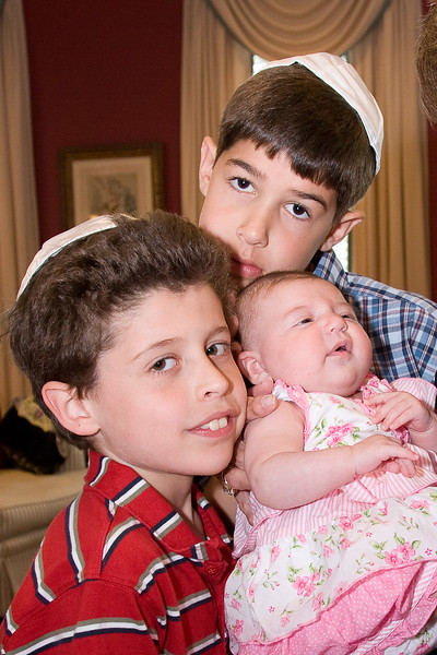 Noah and Josh with new baby cousin