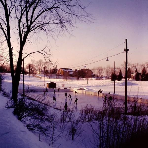 The old hockey rink, pre-metal roof