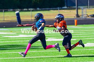 Youth Football: AYFL B-Broncos vs. B-Dolphins 10.21.2017 (by Al Shipman)