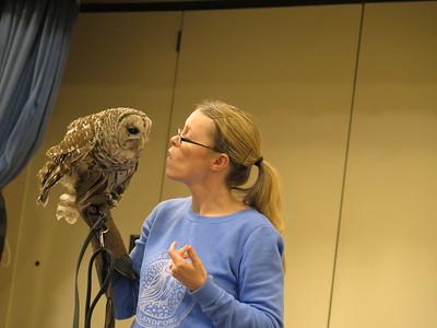 3/23/2017 - Blanford Nature Center Assemblies (Showing Owls)