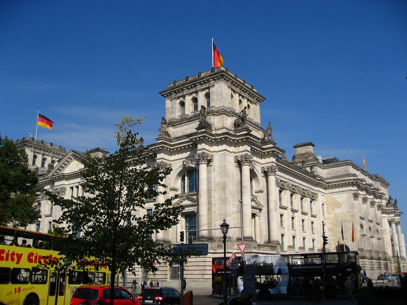 The Reichstag, a German Bundestag or federal government building