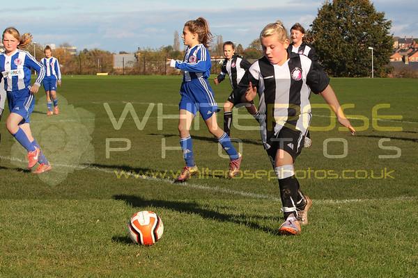 Under 11's Girls v Steel City Wanderers 25 - 10 - 14