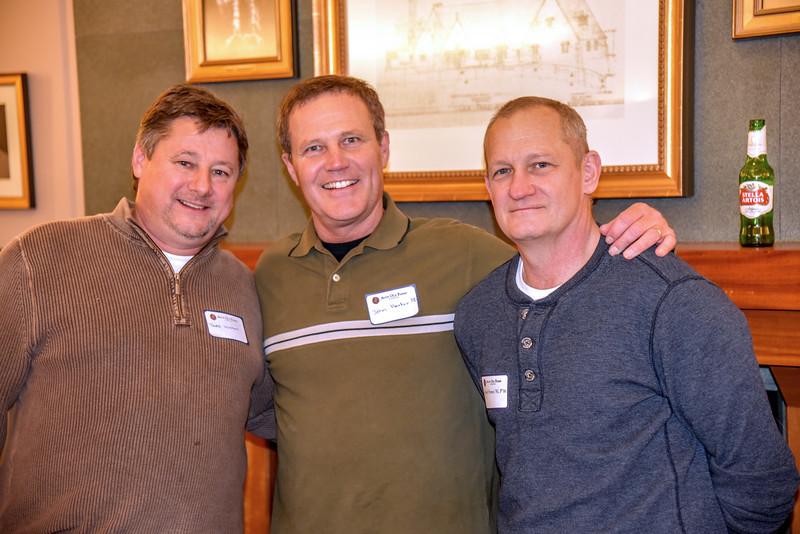 Todd Wishart, John Harker '80, Michael Symes '81, P'16