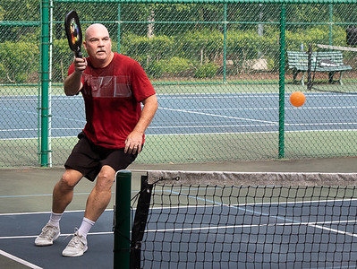 John playing Pickleball