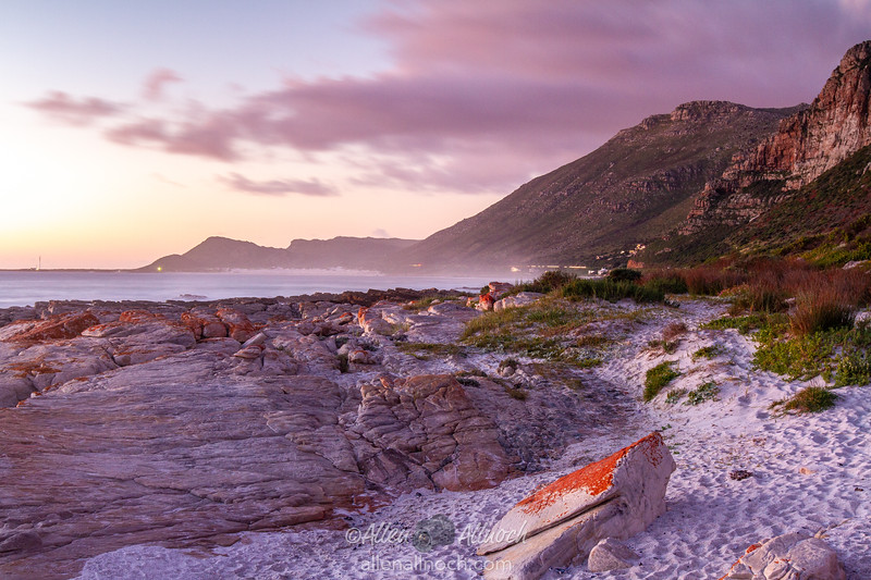 South African Beach at Sunset