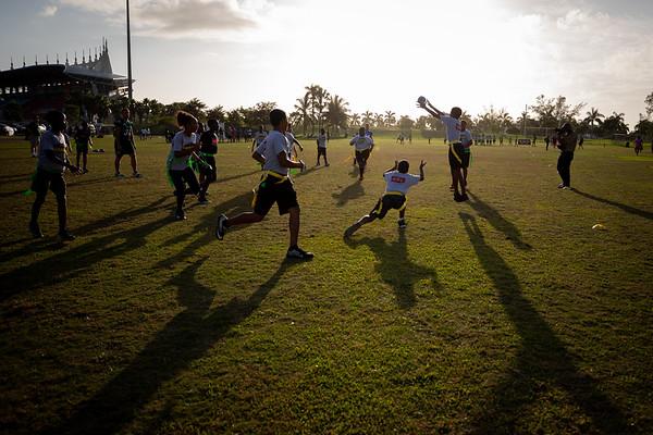 190411 Athletics, Bahamas Bowl, Day 3, Youth Football Clinic, Nassau