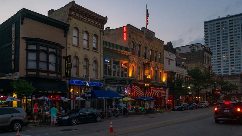 Old World 3rd Street at Sunset, Milwaukee, Wisconsin