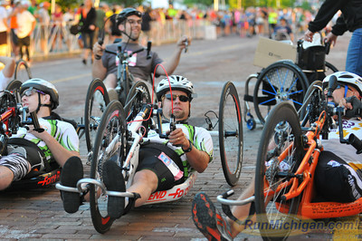 Hand Cycle Start - 2013 HealthPlus Crim Festival of Races