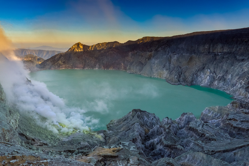 Kawah Ijen danger crater