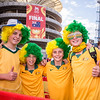 Aussie Fans outside Stadium Australia | 2015 Asian Cup Final Match | Australia vs South Korea | Stadium Australia | January 31, 2015 in Sydney, Australia